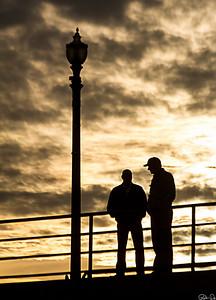 Friends on the Pier   Huntington Beach. CA