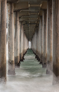 Under the Pier 4 | Slowing down time under the Huntington Beach Pier.