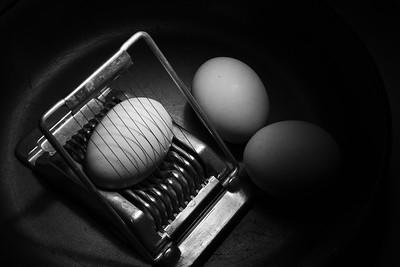 Recreating Edward Weston Eggs and slicer