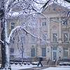 South Campus Exteriors, surrounded by the first snow of the season<br /> <br /> Photographer: Douglas Levere