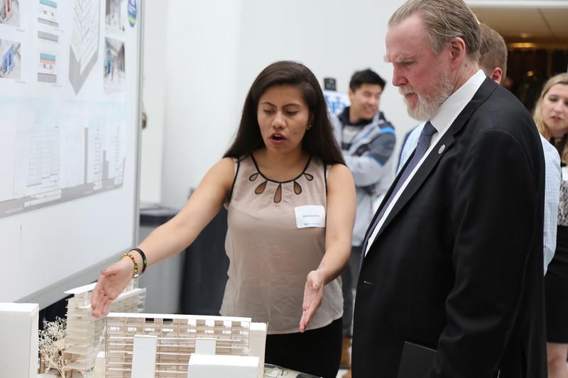 Maria Bautista with Dean Robert Shibley