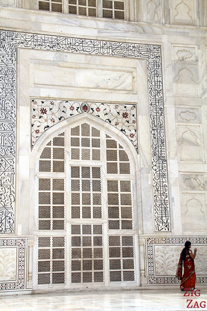Meditating on love at the Taj Mahal