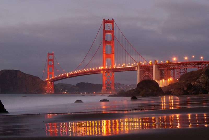 View of the Golden Gate Bridge from Baker Beach.