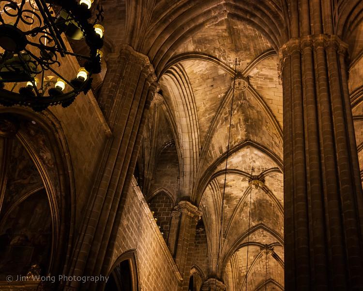 Vaulted ceiling, Catedral de Barcelona