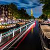 The Prinsengracht canal, looking towards Westerkerk
