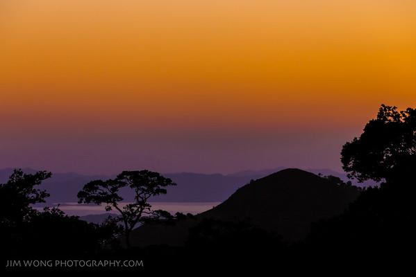 Sunset over the Nicoya Peninsula, Santa Elena