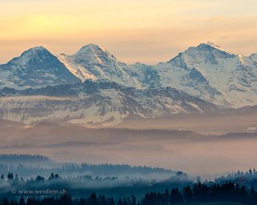 Blue Winter Mountains