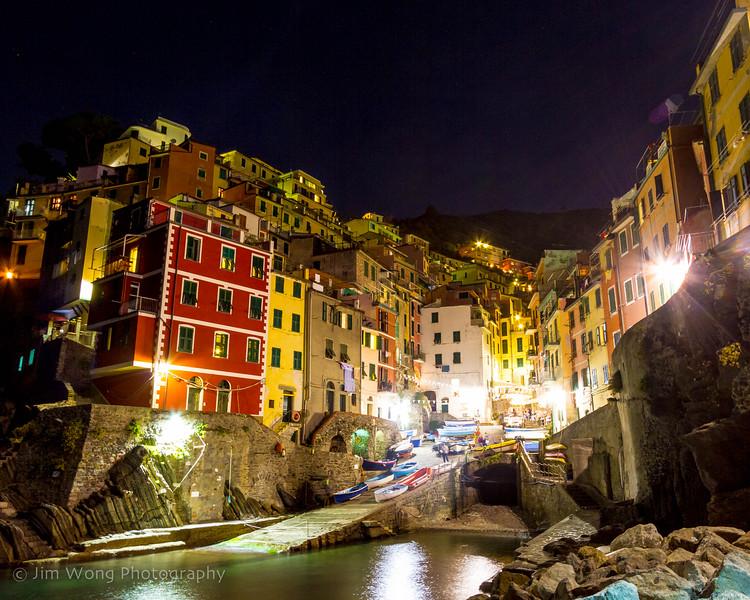Night view, Riomaggiore