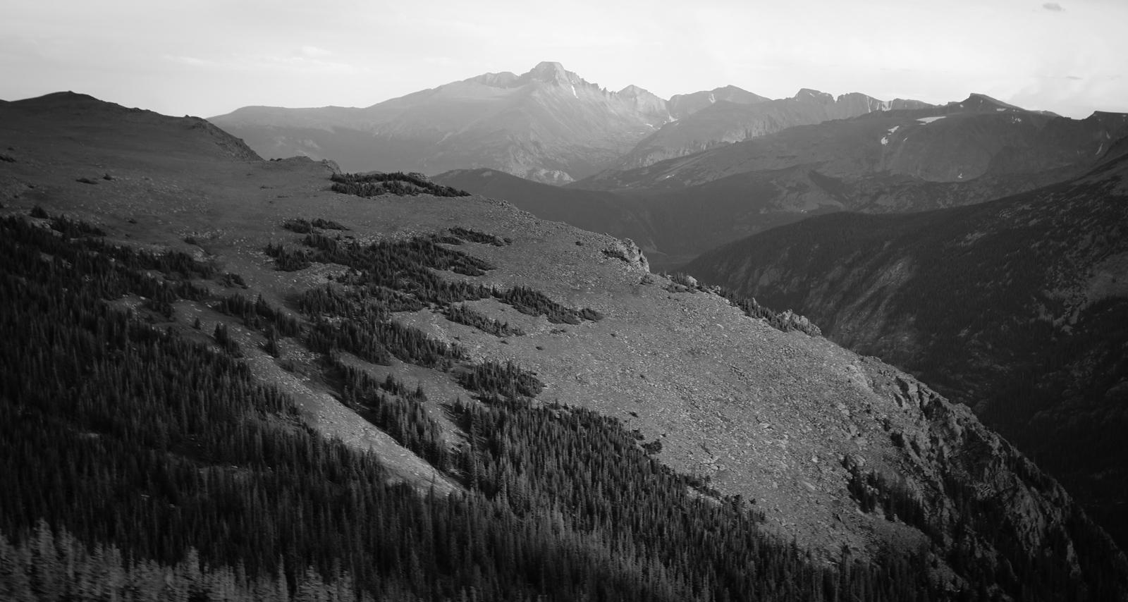 Longs Peak from Trail Ridge Road.