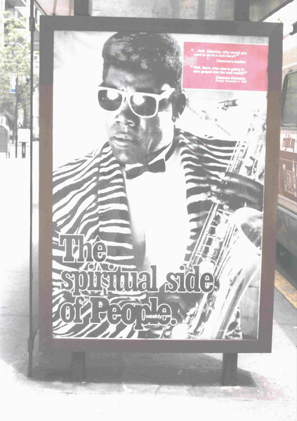 Manhattan bus stop, 1987