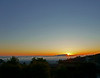 Sunset as Mt. Tamalpais pokes through the clouds - shot from my deck