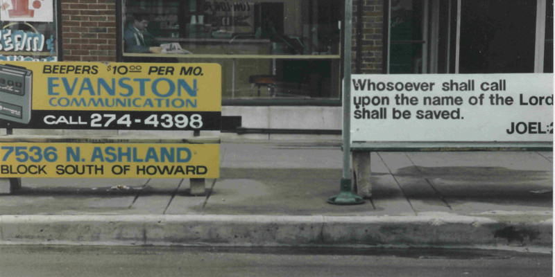 Sheridan Road, Chicago. 1990.