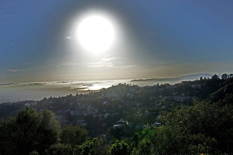 Sunset from Grizzly Peak Blvd., Oakland