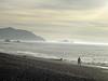 Sharp Park Beach in Pacifica, California.