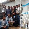 Dana Eitches with ENSZO members, Addis Ababa, Ethiopia