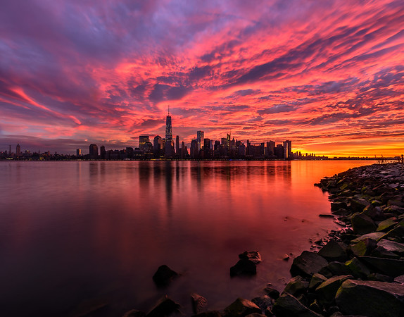 Fire Sunrise over NYC