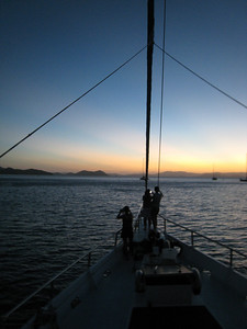 Sunset on the Whitsundays