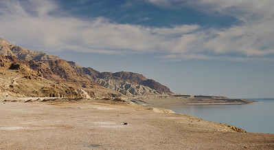 The Dead Sea and mountains in Jordan.