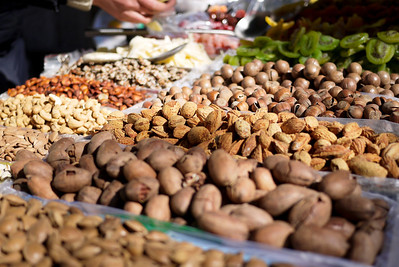 The delicious fruits and nuts in Beijing, China.