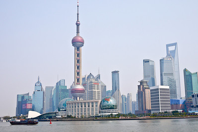 The iconic Shanghai skyline from the Bund, China
