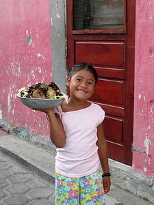 Friendly Little Girl in Belize, Central America