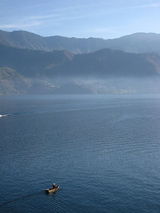 Lone Boat on Lake Atitlan