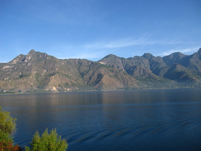 Volcanoes and Mountains around Lake Atitlan