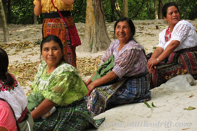 Mayan Women Visiting the Temples