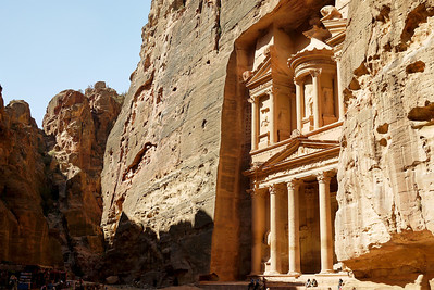 It's gorgeous and hard to stop photographing once you're at the Treasury in Petra, Jordan.