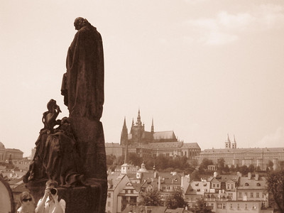 Statue on Charles Bridge