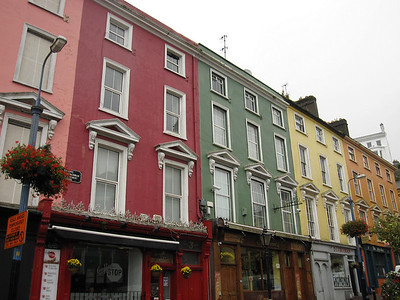 Traditional Irish Colored Houses