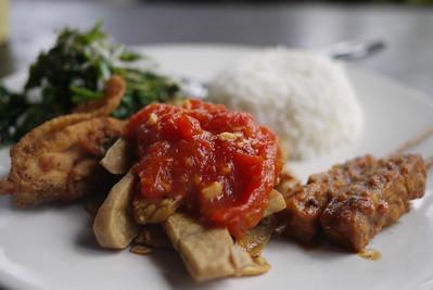 Nasi Campur in Bali