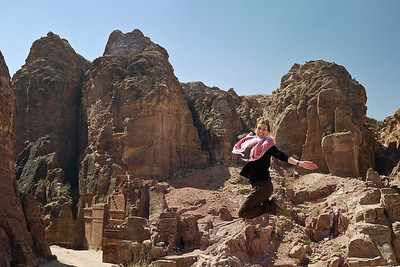 The Street of Facades in Petra, Jordan.