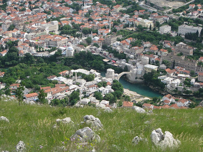 View of Mostar and Bridge from the Cross
