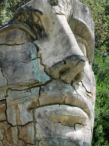 Giant Head in the Boboli Gardens, Florence, Italy