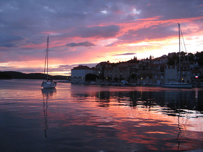 Sail Boat in Milna Harbor, Brac, Croatia