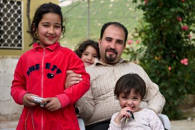 A family dinner in Rasun, Jordan