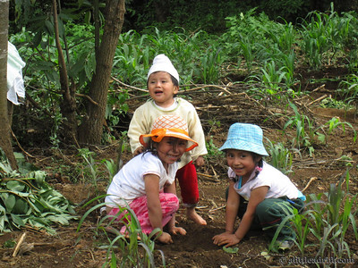 Joyous Children Playing in Guatemala