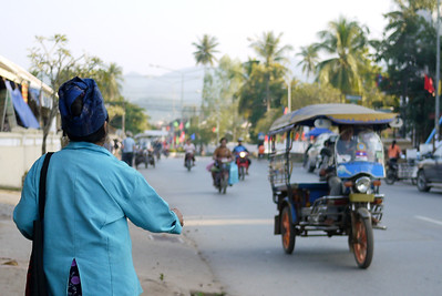 The sun-kissed streets of UNESCO site Luang Prabang, Laos