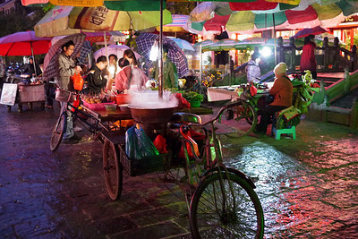 Street cart in Yangshuo, China.