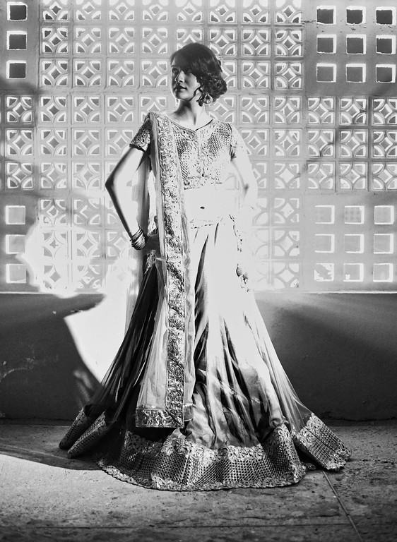 bridal portrait - divya 's sangeet