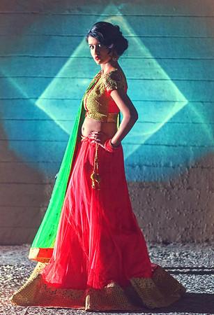 bridal portrait - divya on her sangeet