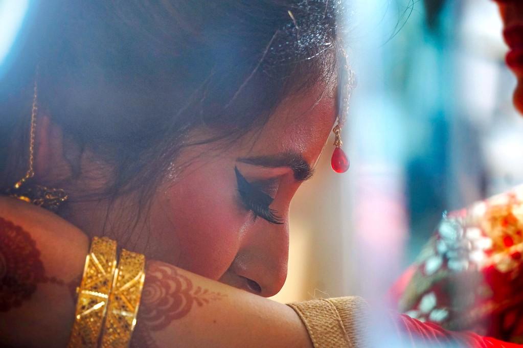 Bridral Portrait in Gurudwara wedding
