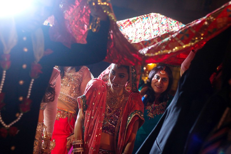 entry of beautiful indian bride