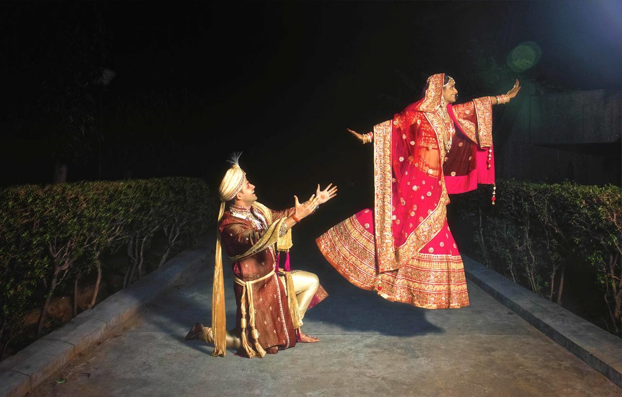indian couple wedding portrait on wedding day