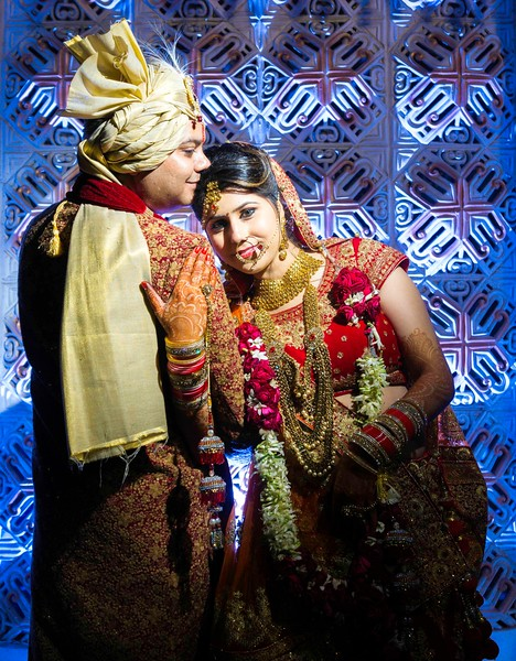portrait in indian wedding