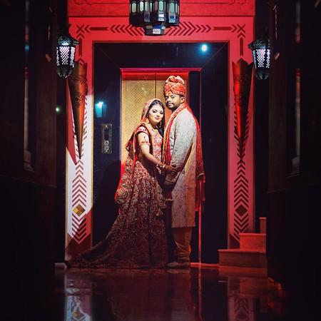Indian couple wedding portrait