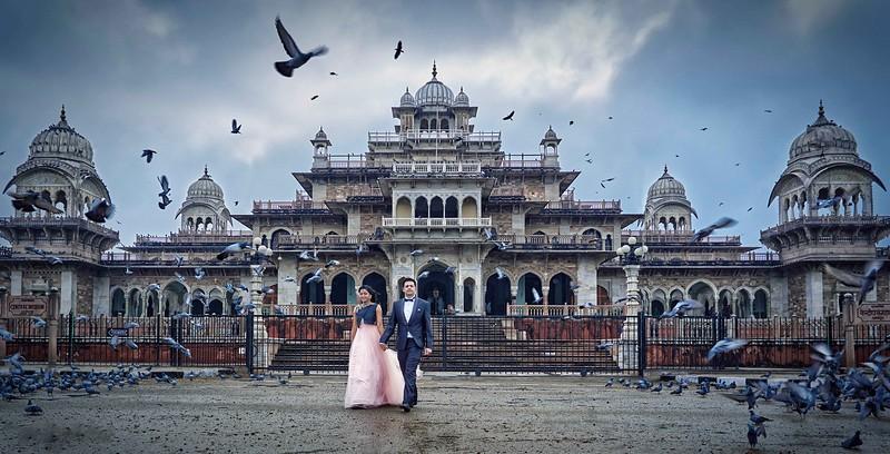 pre wedding shoot at albert museum jaipur