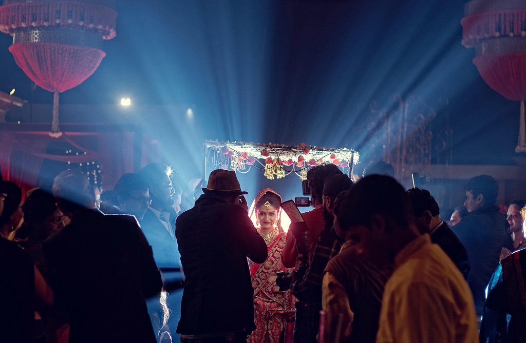 entry of an indian bride in a indian wedding