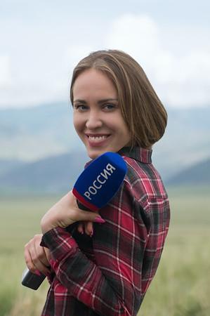 "Журналистка телеканала ""Россия-1"" Мария Князева (Саушкина)"